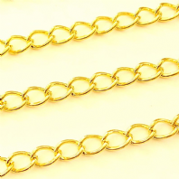 Gold Plated 4X6mm Curb Chain Pk of 1M